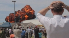 Dramatic footage: Plane crash at Madrid air show