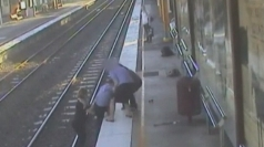 Hero nurse saves man from train track