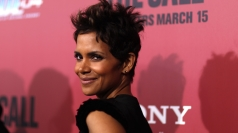 Halle Berry gets her bump out