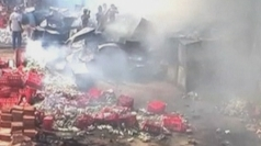 Flames engulf Coca Cola depot in India