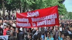 Activists break up gay rally in Georgia