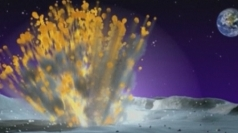 Lunar meteor explosion
