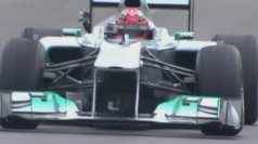 Michael Schumacher back in F1 car