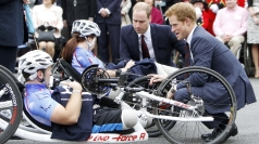 Princes meet injured servicemen and women