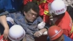 Man rescued after factory blast in China