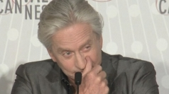 Michael Douglas cries at Cannes
