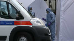 Police forensics officers in Woolwich