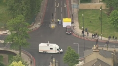Aerial footage of police search after Woolwich murder