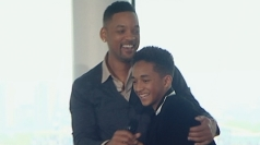 Will and Jaden Smith share father-son moment in London.