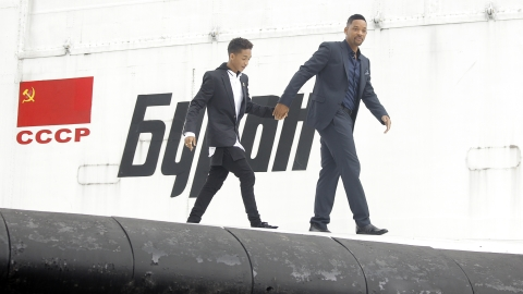 Will and Jaden Smith share father-son moment in London