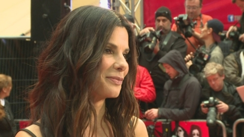 Sandra Bullock on acting drunk at The Heat London premiere