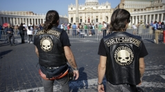 Pope Francis blesses Harley-Davidson bikers at Sunday Mass