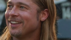 Brad Pitt shows fans the love at World War Z premiere