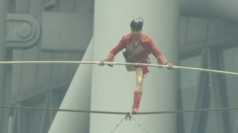 Tightrope walker Adili Wuxor performs stunts in China