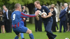Prince William hosts first ever football match at Palace