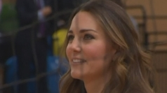 Duchess of Cambridge plays volleyball in wedges
