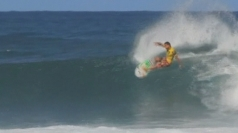 Hawaii's surfing competition: Michel Bourez surfs to victory