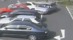 Parking attempt ends in cars damage