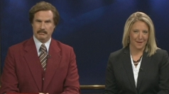 Will Ferrell hosts real newscast as Anchorman Ron Burgundy