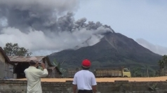 Volcano erupts in Indonesia, shooting hot ash into the sky