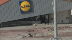 Supermarket sinks into ground in devastating landslide