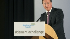 Cameron speaking at a dementia event last year.