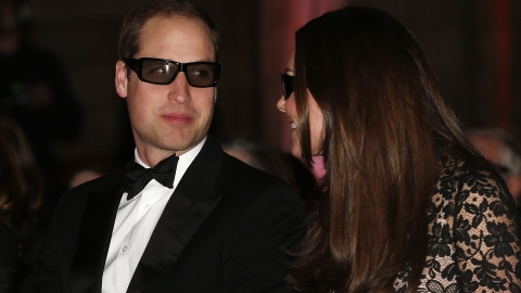 3D Royals: Prince William and Kate Middleton wear 3D glasses