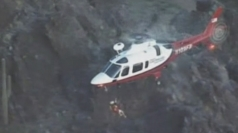 Teenager in 30ft mountain fall is airlifted to hospital
