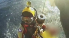 Fishermen's dramatic rescue in Australia caught on camera