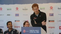 "Prince Harry talks about South Pole trek ""win"""