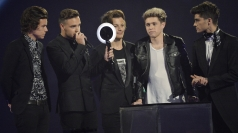 Brits Winners Room: One Direction rap on stage