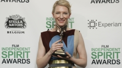 Cate Blanchett talks Oscar rain-proof footwear options