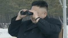Rare footage of Kim Jong Un judging shooting contest