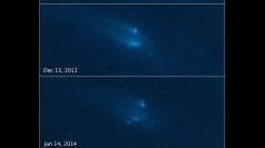 Hubble captures rare asteroid break-up