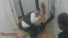 Dramatic CCTV: Policeman punches woman in the face
