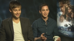 Douglas Booth and Logan Lerman talk snogging and bunk beds