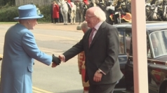 Irish President arrives in Windsor to meet the Queen